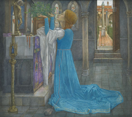 Edward Reginald Frampton. Isabella and the Pot of Basil